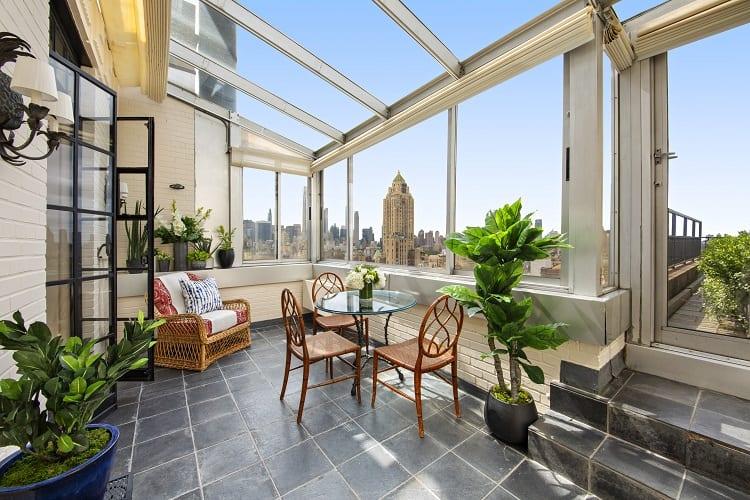 beautiful solarium in Manhattan apartment